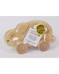 Schoolhouse Naturals Push N Pull Toy - Bunny