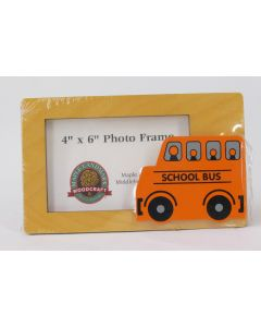 Maple Landmark Photo Frame – School Bus