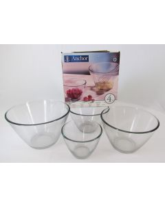 Anchor Hocking Glass Mixing Bowls, set of 4