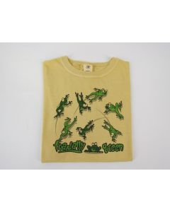 "Earth Creations Youth Short Sleeve T ""Toadally Green"", Citrine"