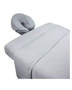 Coyuchi 3 Pc Massage Table Sheet Set, White, Percale