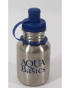 Aqua Basics Water Bottle, 12 oz w/sports cap