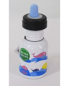 OGGI Stainless Steel Sippy Bottle, Whales