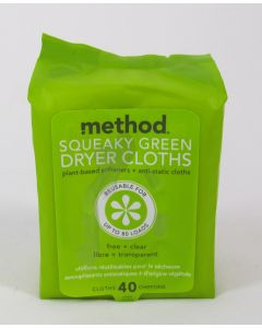 Method Squeaky Green Dryer Cloths – 40pk
