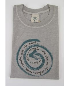 "Earth Creations T-Shirt ""Reduce, Reuse, Recycle"", Silt"