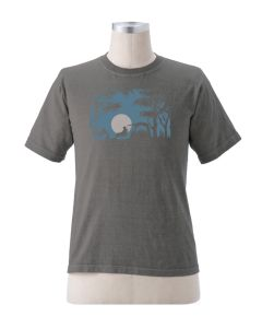 "Earth Creations Short Sleeve T ""Camping Scene"", Charcoal"