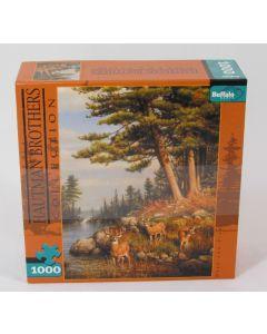 Buffalo Games Jigsaw - 1000 pc - Deer & Pines