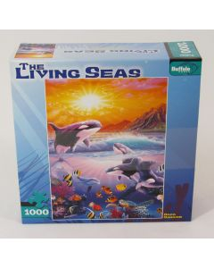 Buffalo Games Jigsaw Puzzle - Orca Sunrise