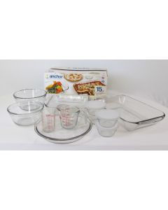 Anchor Hocking 15-pc Tempered Glass Baking Set