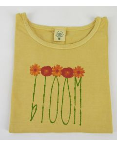 "Earth Creations Women's T-Shirt Scoop Neck ""Bloom"", Citrine"