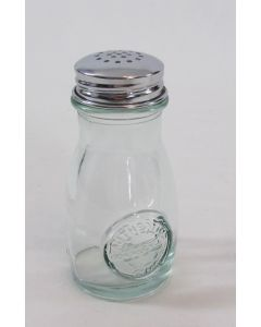 """""""Authentic"""" Salt/Pepper/Spice Shaker - 4 oz – Clear glass, SS top"""