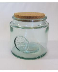 "DTE ""Authentic"" Storage Jar w/cork lid, 77 oz"