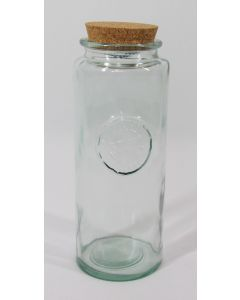 """Authentic"" Tall Storage Jar w/cork lid"