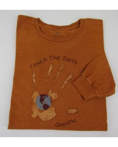 "Earth Creations Long Sleeve T-Shirt ""Touch the Earth"", Terra, X-Large"