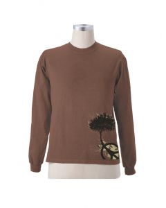 "Earth Creations Long Sleeve T ""Peace Tree"", Port"