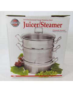 Juicer/Steamer, Stainless Steel