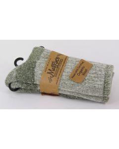 Maggie's Organic Wool Socks-Killington Mountain Hiker, Olive 9-11