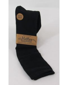 Maggie's Organic Cotton Dress Socks-Knee High, Black 9-11