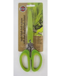 Norpro Triple Blade Herb Scissors with dual sheath/blade cleaner