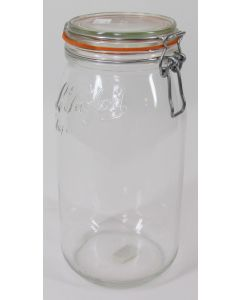 "Large ""La Parfait"" Storage Jar. 3 Liter (.8 Gallon)"