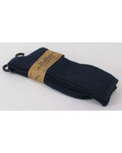 Maggie's Organic Cotton Crew Socks – Navy Blue 10-13
