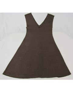 Synergy Organic V-Neck Dress, Chocolate, Large