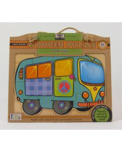 Green Start Wooden Puzzle - Love Bus