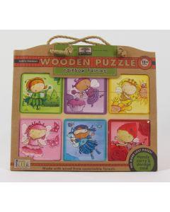 Green Start Wooden Puzzle - Rainbow Fairies