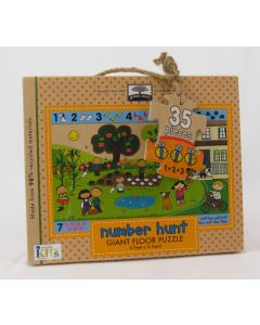 Green Start Giant Floor Puzzle, Number Hunt