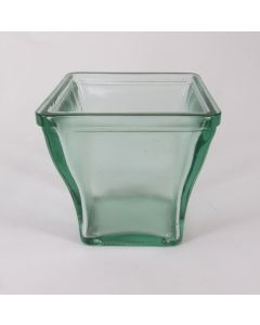 """4.75"""" Square Vase, 100% Recycled Glass"""