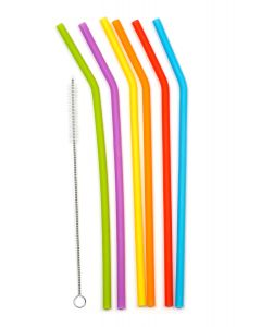 "RSVP 10"" Silicone Straws Set of 6"