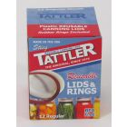 Tattler Reusable Canning Lids & Rings, 12 Regular